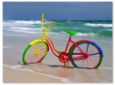 Trademark Global Mike Jones Photo 'Rainbow Bike' Canvas Art - 47 x 35 x 2 Taste The Rainbow, Over The Rainbow, World Of Color, Color Of Life, Rainbow Bike, Velo Vintage, Vintage Bicycles, Bicycle Art, Bicycle Rims