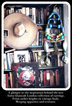 Statement earrings by Anita Quansah London Sorbet, Statement Earrings, London, Texture, Handmade, Inspiration, Vintage, Surface Finish, Biblical Inspiration