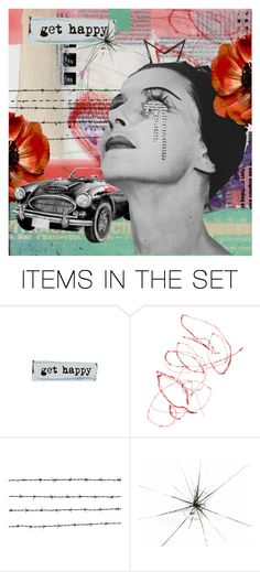 """Get Happy"" by livnd ❤ liked on Polyvore featuring art, Collage and artset"