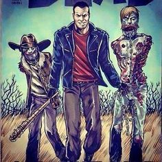 One of my favorite Negan arts. Walking Dead Comics, Fear The Walking Dead, Twd Comics, Talking To The Dead, Comic Pictures, Comic Pics, Dead Poets Society, Stuff And Thangs, Zombie Apocalypse