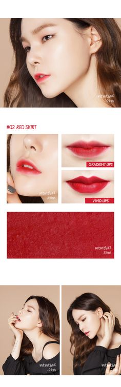 jungsun basics lipstick #02 red skirt