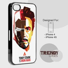 iPhone Case Tony Strak Iron Man Face, iPhone 4/4S/4G Case, iPhone 5/5S/5C, Samsung galaxy S3/S4