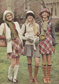 'Back to class in plaids.' (1973) #Seventeen #backtoschool