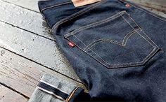 Levi's 501 Raw Selvedge Jeans Levis 501, Levis Selvedge, Levis Jeans, Patterned Jeans, Raw Denim, Levi Strauss, Courses, Body, Blue Jeans