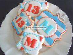 Monogram Cookies  custom decorated sugar by BambellaCookies