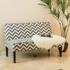 Dejon Chevron Fabric Loveseat by Christopher Knight Home