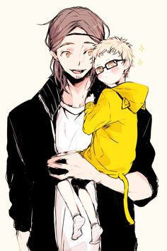 Asahi and Tsukishima - could this possibly get any cuter???