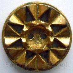 VINTAGE 2 pc gold tone geometric sun star Art by BigBTumbleweed