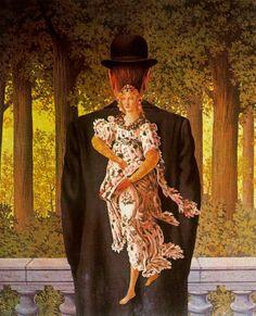 El ramillete perfecto (1956).- René Magritte