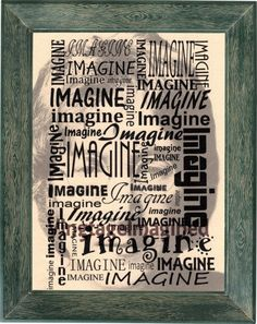 John Lennon, Imagine, the Beatles,  dictionary inspired  art print  on 8x10 parchment style paper with metallic sheen. by VintageImagined on Etsy