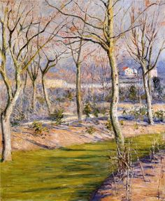 "Gustave Caillebotte -     ""The Garden at Petit Gennevilliers in Winter"", 1894"