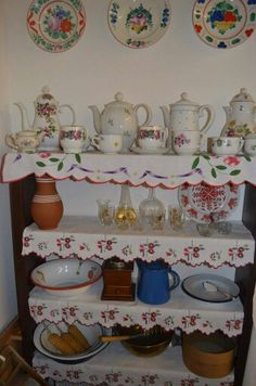 From Vojvodina Swedish Style, Farms Living, Cup And Saucer, Handicraft, Wood Crafts, Pottery, Embroidery, Retro, Interior