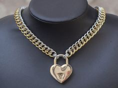 Chainmaille BDSM Submissive Slave Collar with by DreamHandmadee