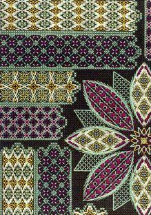 Pattern - Ann Strite-Kurz  ASK45: Ruby Razzle Dazzle; Option 2 stitched by Pat Donaldson