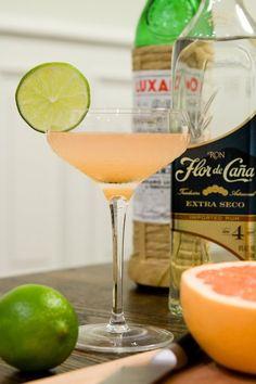 The Hemingway Daiquiri 2 ounces light rum, such as Flor de Caña Extra Dry 4 Year 3/4 ounce fresh lime juice 1/2 ounce fresh grapefruit juice 1/2 ounce maraschino liqueur