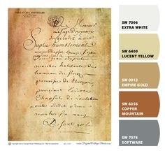 Paint colors from Chip It! by Sherwin-Williams  French Document by DigitalCollageSheets