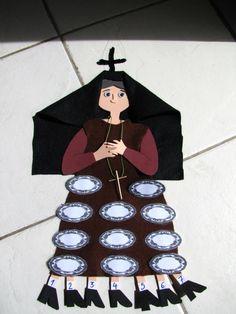 Η κυρά Σαρακοστή προτού διαλέξει τα νηστήσιμα φαγητά...good idea to tell the kids to stick on the plates all Lenten foods