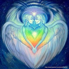 At each divine juncture my wings expand and I touch Him more intimately ~ Meister Eckhart , from Love Poems from God, Twelve Sacred Voices from the East and West by Daniel Ladinsky ♥ Art, Eternal Love by on DeviantArt Art Amour, Twin Flame Love, Twin Flames, Twin Flame Relationship, Twin Souls, Made In Heaven, Eternal Love, Angel Art, Sacred Art