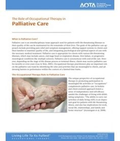 The Role of Occupational Therapy in  Palliative Care