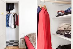 Klädkammare med gott om plats för förvaring