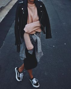 Black biker jacket, Acne Studios pink melange mohair jumper Andy Csinger (@andicsinger) • Instagram