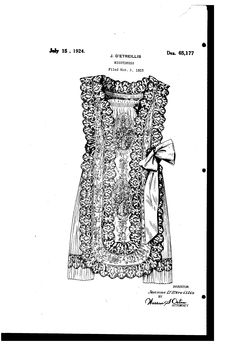 JEANNE DETREILLIS is one of the two Boué Soeurs. UNITED STATES PATENT OFFICE.  JEANNE DETREILLIS, OF NEW YORK, N. Y.  DESIGN FOR A NIGHTDRESS.  Application filed November 2, 1923.