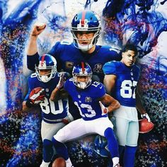Eli & our Lethal receiving core! New York Giants Football, Football Team, Football Helmets, Beast Of The East, New York Giants Logo, Odell Beckham Jr, Great Team, American Football, Nfl