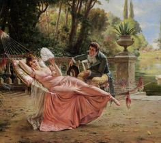 The Proposal :: Charles Joseph Frederick Soulacroix - Romantic scenes in art and painting
