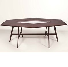Ico Parisi; Mahogany and Glass Table, 1950s.