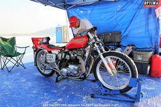 Triumph motocycle at Speed Week 2018 at the Bonneville Salt Flats Optima Battery, Triumph Motorcycles, Street Bikes, Drag Racing, Paradise, Salt, Heaven, Heavens