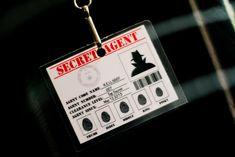 badge idea - secret agent party ideas   007 Secret Agent Party Planning Ideas Supplies Idea cake Diamonds
