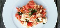 Salata cu pepene si quinoa