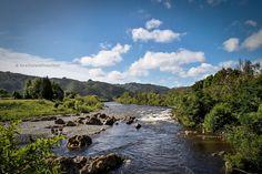 Hutt river in a hot summer day