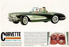 1960 Chevrolet Corvette - America's Sports Car - Promotional Advertising Poster