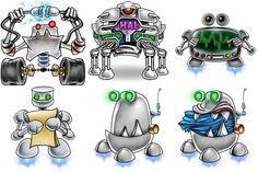 Robots Iconset (6 icons)   Proycontec