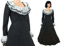 50s 60s Cocktail Dress S  Vintage Long Black by HepCatClothes, $350.00