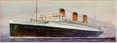 S.S. Ile de France - considered the most beautiful ship until the Normandie was built in the 30's