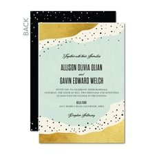 Deluxe Dots Destination Wedding Invitations