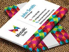 Mosaic Studio Business Card   Business Cards   The Design Inspiration