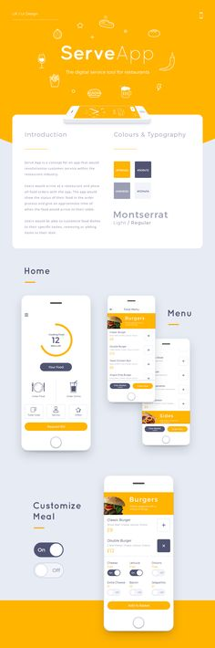 Serve App is a concept for an app that would revolutionise customer service within the restaurant industry.Users would arrive at a restaurant and place all food orders with the app. The app would show the status of their food in the order process and gi…