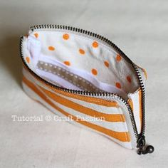Sewing | Zipper Card Pouch | Free Pattern & Tutorial at CraftPassion.com