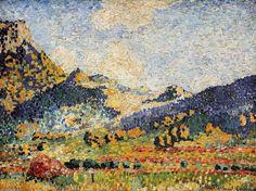 Henri-Edmond Cross - Les Petits Montagnes, Mauresques. Huile sur toile de Henri Edmond Cross (1856-1910, France).