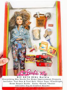 Barbie Funny, Barbie Sets, Barbie Barbie, Happy 60th Birthday, Get Real, Barbie Dream House, Tool Belt, Barbie Collector, Barbie World