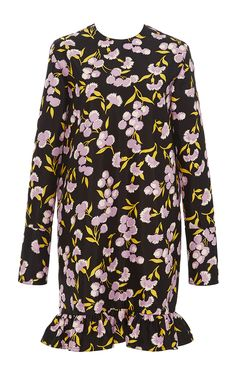 Sistowbell Floral Ruffle Dress by MARNI for Preorder on Moda Operandi