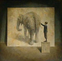 Jongen schildert olifant-Gabriel Sainz