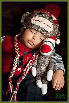 Sock Monkey Hat boy girl baby toddler photography prop bcfb8be9d958