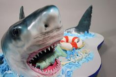 AWESOME shark cake!