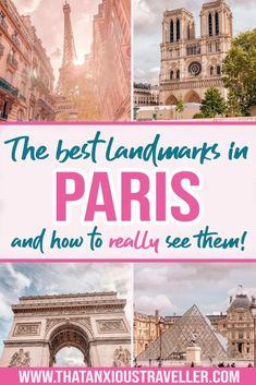 Paris landmarks are some of the best sights in the world. Learn their history, and how to see the best of Paris! Paris Travel Guide, Europe Travel Tips, European Travel, Travel Guides, Paris Tips, Travel Plan, Travel Hacks, Asia Travel, Budget Travel