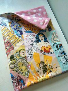 Wonder Woman Batgirl Super hero Blanket for Baby by carouselbelle, $30.00