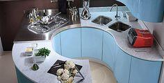 contemporary laminate kitchen (curved lines) TIMO PLUS Biefbi Cucine